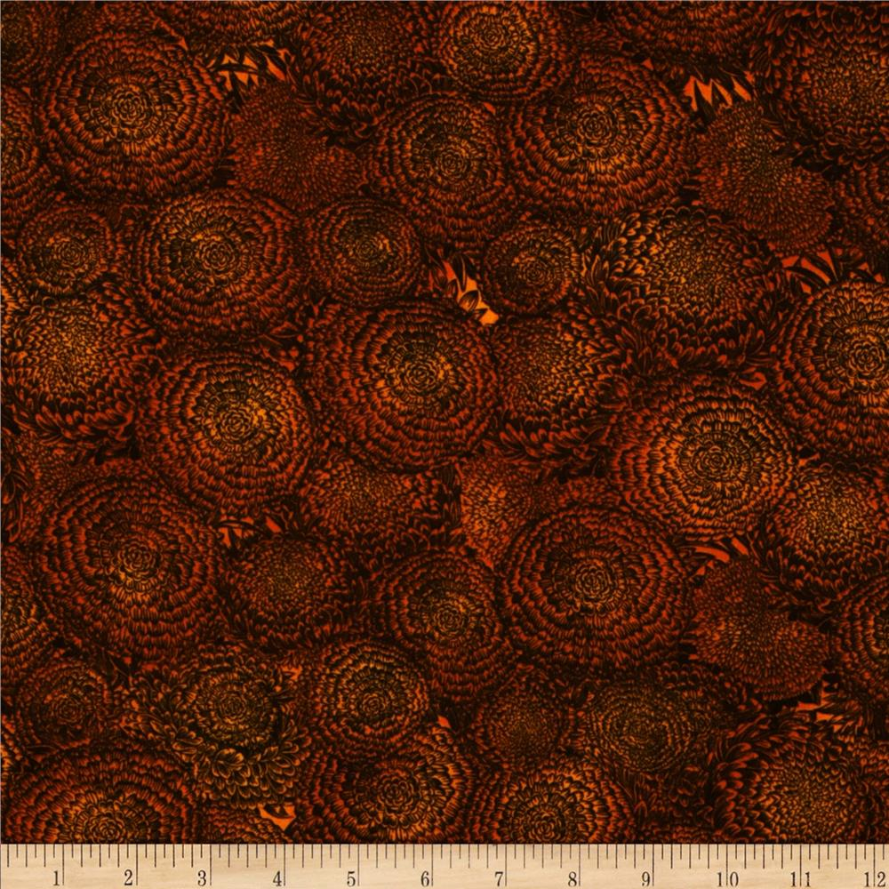 Sleepy Hollow Creepy Flowers Orange