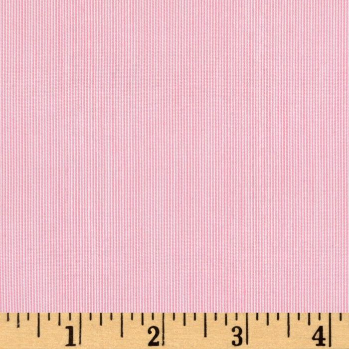 Cotton Shirting Tiny Stripes White/Pink