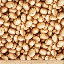 Farmer John's Organic Potatoes Brown Fabric