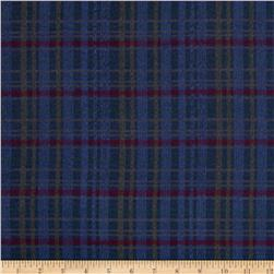 Timeless Treasures Tailormade Flannel Plaid Navy