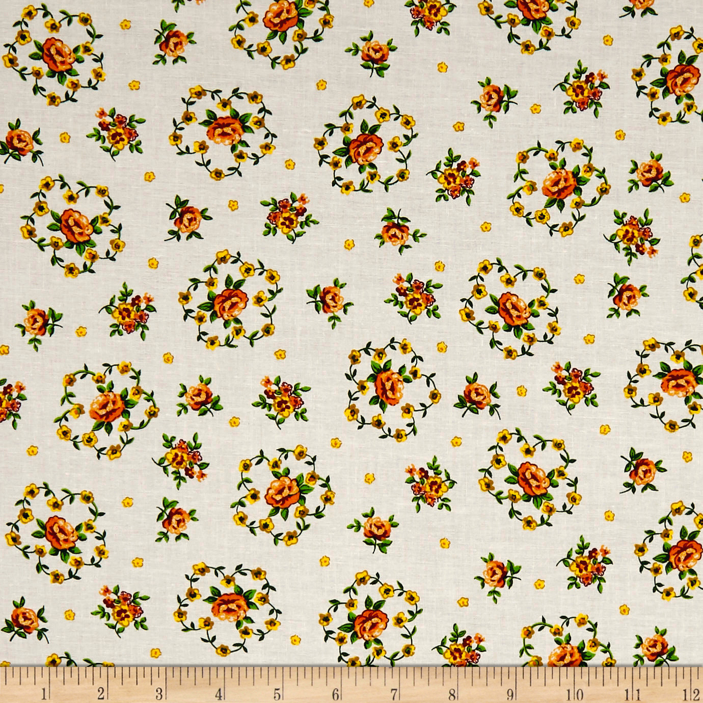 INOpets.com Anything for Pets Parents & Their Pets Botanical Garden Peach Fabric