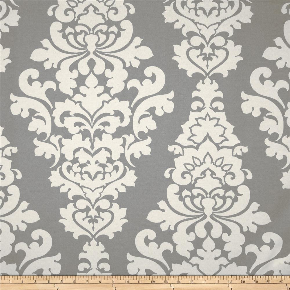 Premier prints indoor outdoor berlin grey discount for Outdoor fabric