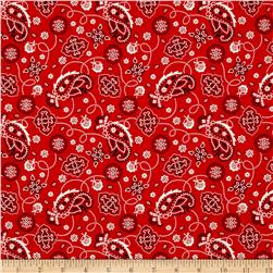 Cattle Drive Bandana Red