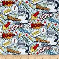 Riley Blake Super Hero Words Blue