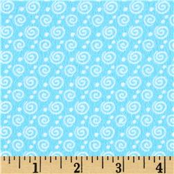 Kanvas Breezy Baby Flannel Dreamy Swirl Sky Blue