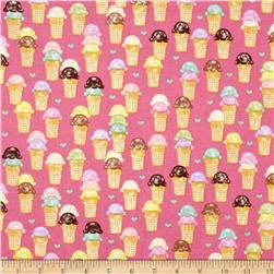 Riley Blake Designer Novelty Ice cream Pink