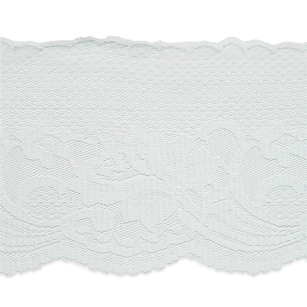 4 1/2'' Penelope Chantilly Lace Trim White