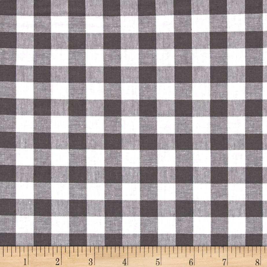 Cotton + Steel Checkers Yarn Dyed Woven 1/2'' Chalkboard Fabric