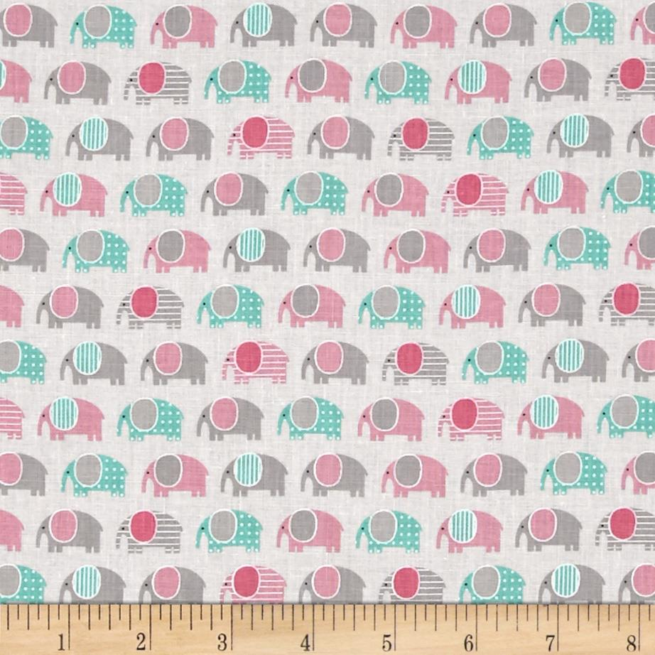 Kaufman Urban Zoologie Mini Elephants Pink