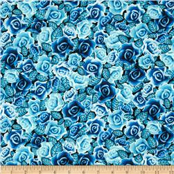 Kanvas Lady of Guadalupe Spanish Rose Metallic Blue
