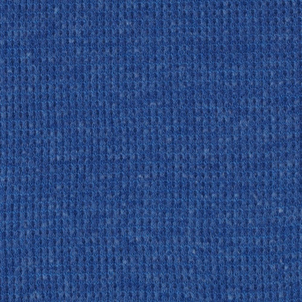 Cotton Thermal Knit Heather Cobalt