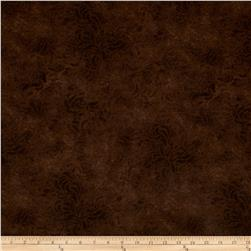 "110"" Wide Quilt Back Bella Suede Brown"