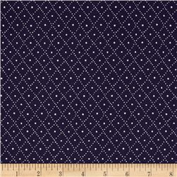 Nancy Gere Low Country Indigo Diamonds Navy