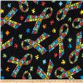 Winterfleece Jigsaw Ribbons Multi