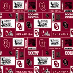 Collegiate Fleece University of Oklahoma Blocks