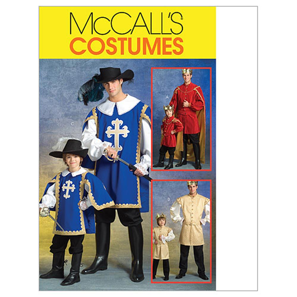 McCall's Men's/Children's/Boys' Musketeer and Prince Costumes Pattern M5214 Size KID