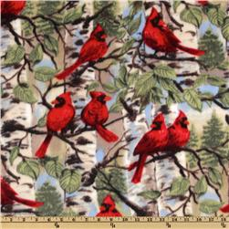 WinterFleece Red Bird Fabric