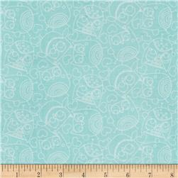 Owl School Sketched Owls Turquoise