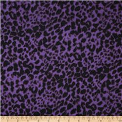 Rayon Jersey Knit Leopard Black/Purple