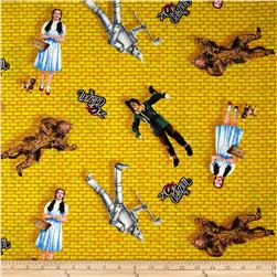 The Wizard of Oz Characters on Yellow Brick