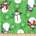 Flannel Tossed Snowlady Green