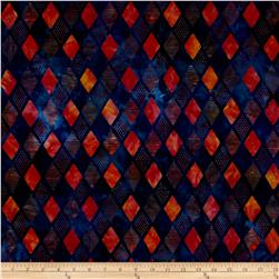 Robert Kaufman Elemental Batiks Geos Diamond Stripe Fiesta