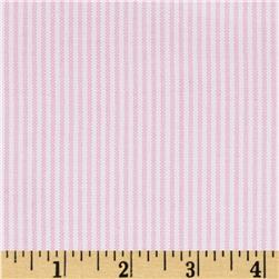 Kaufman Oxford Yarn Dyed Small Stripe Pink Fabric