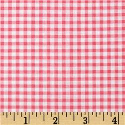Wishing Well Gingham Pink Fabric