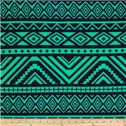 Liverpool Double Knit Aztec Diamonds Navy/Green