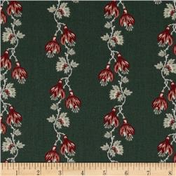 Floral Stripe Dark Green