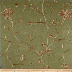 Bartow Embroidered Garden State Floral Gold/Ivory/Sage