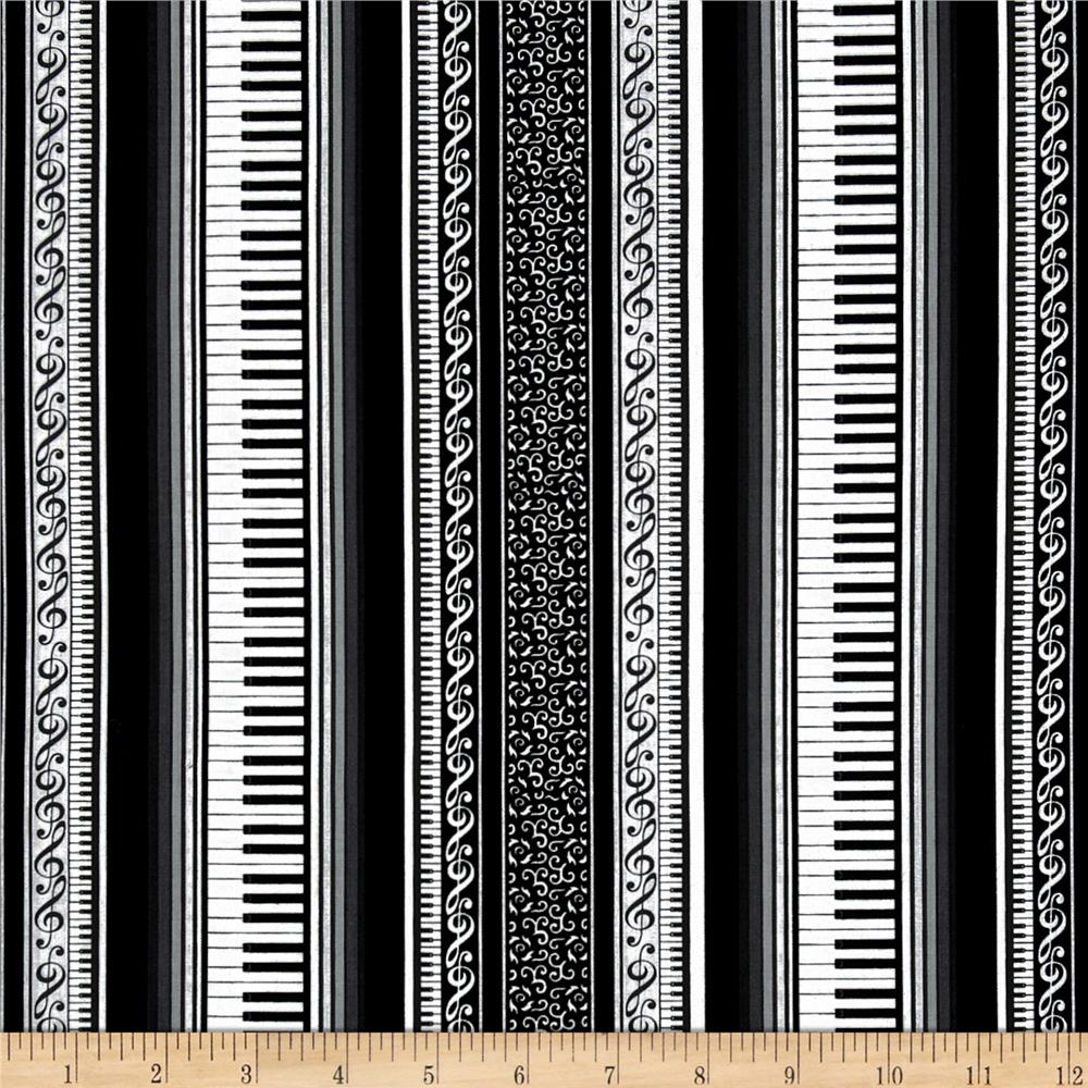 Concerto Grand Piano Stripe Black