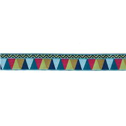 7/8'' Amy Butler Blue/Pink/Gold Belle Mosaic Ribbon
