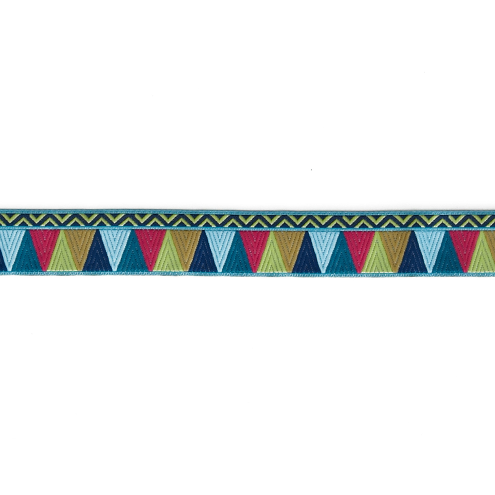 7/8'' Amy Butler Blue/Pink/Gold Belle Mosaic Ribbon Fabric