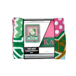 No Sew Fleece Kit Kappa Delta Pink/Green/White