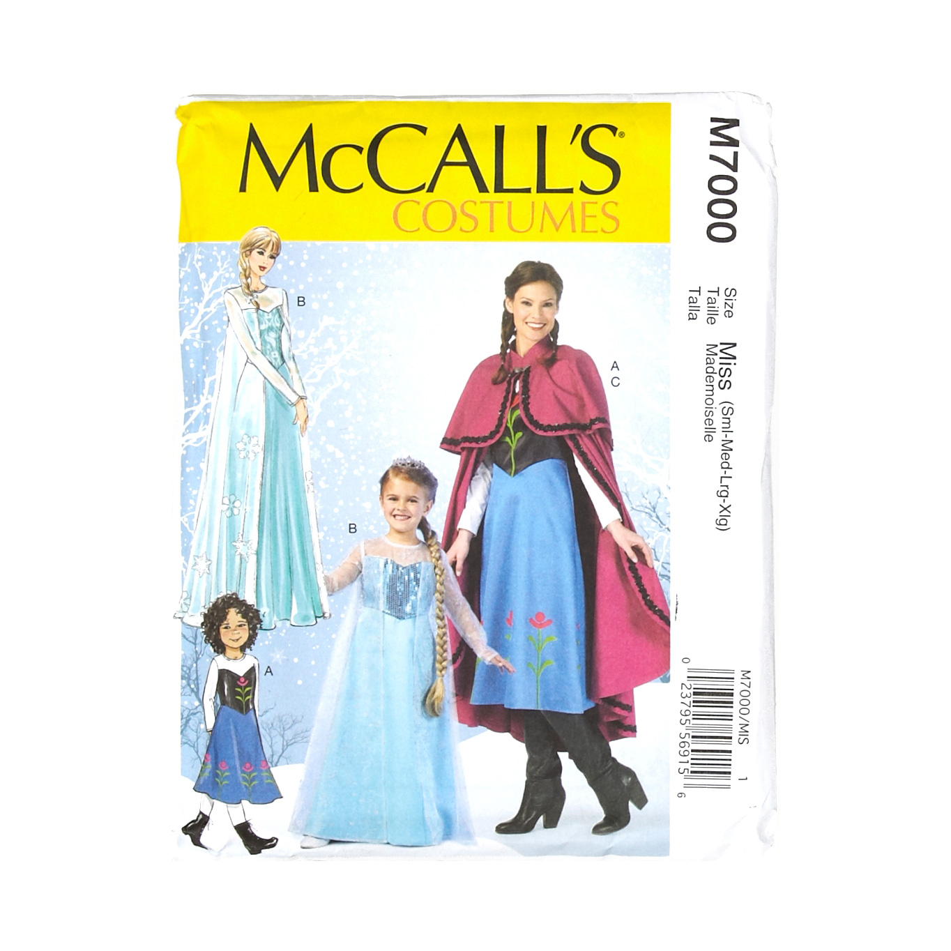 Image of McCall's Misses Patterns-Winter Princess Costume Pattern - Misses