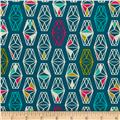 Cotton+Steel Lagoon Lively Lanterns Dark Teal