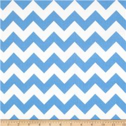 Riley Blake Flannel Basics Chevron Medium Blue Fabric
