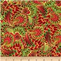 Timeless Treasures Palazzo Metallic Abstract End Paper Holiday