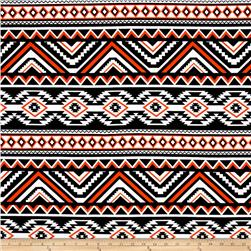ITY Jersey Knit Aztec Orange Black