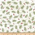 Moose Lodge Branches Green/Cream