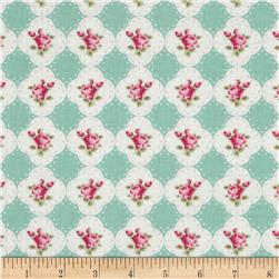 Tanya Whelan Rosey Cameo Rose Teal Fabric