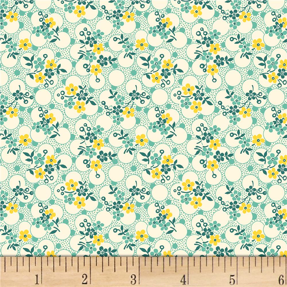 Vintage 30 39 s florals forget me knots green discount for Fabric purchase
