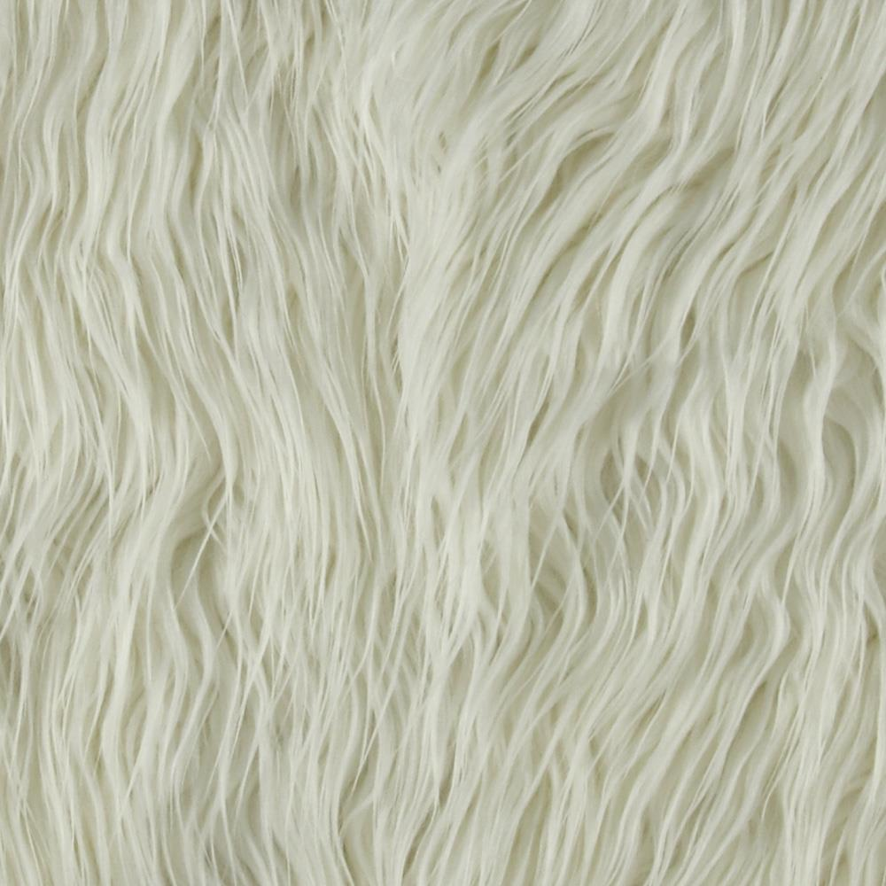 Faux Fur Mongolian Off White