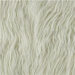 Faux Fur Mongolian Off White Fabric