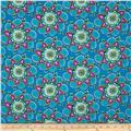 Day Of The Dragonfly Large Floral Blue