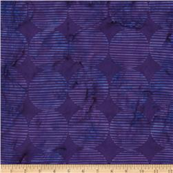 Island Batik Large Diamond Purple/Lavender Fabric