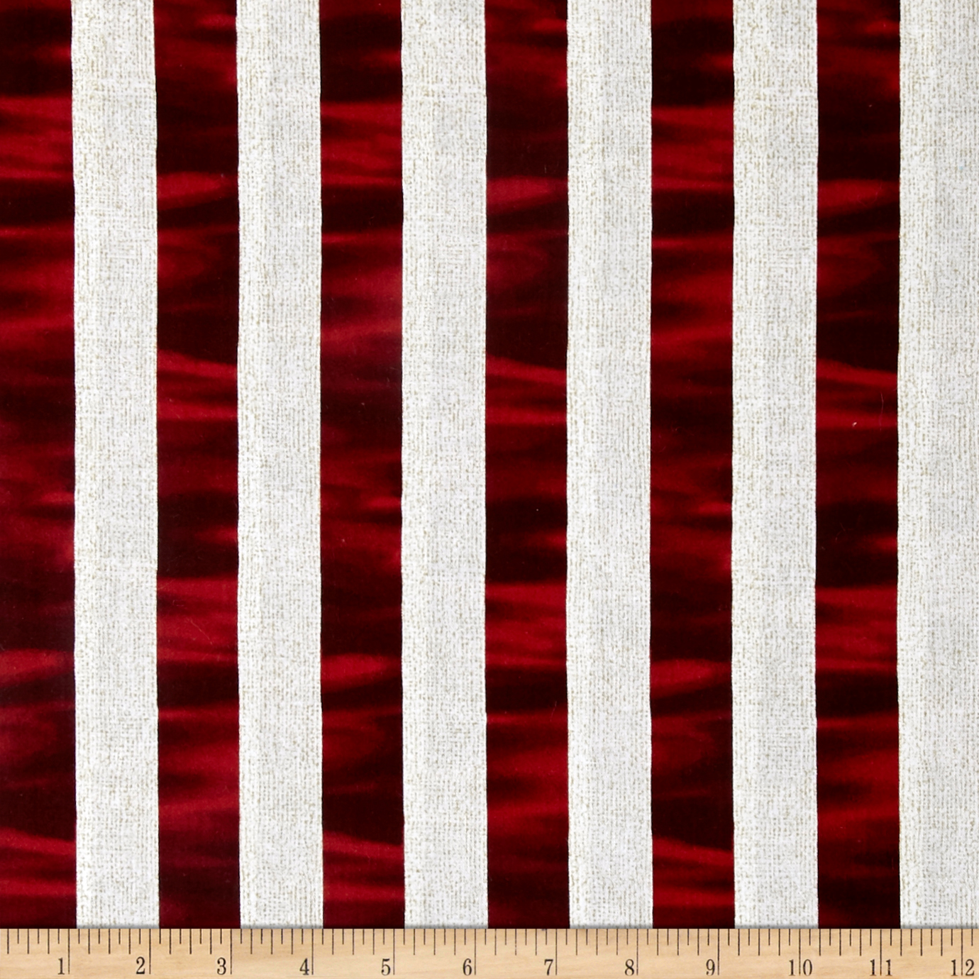 Image of Oh My Stars American Classic Channel Stripe Red/White Fabric
