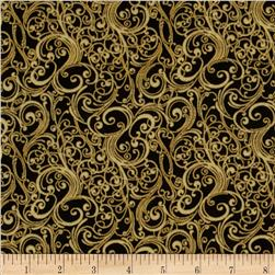 Fairy Briar Metallic Swirl Antique Black