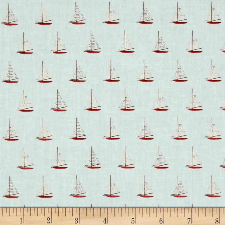 Riley Blake Offshore Sailboat Aqua